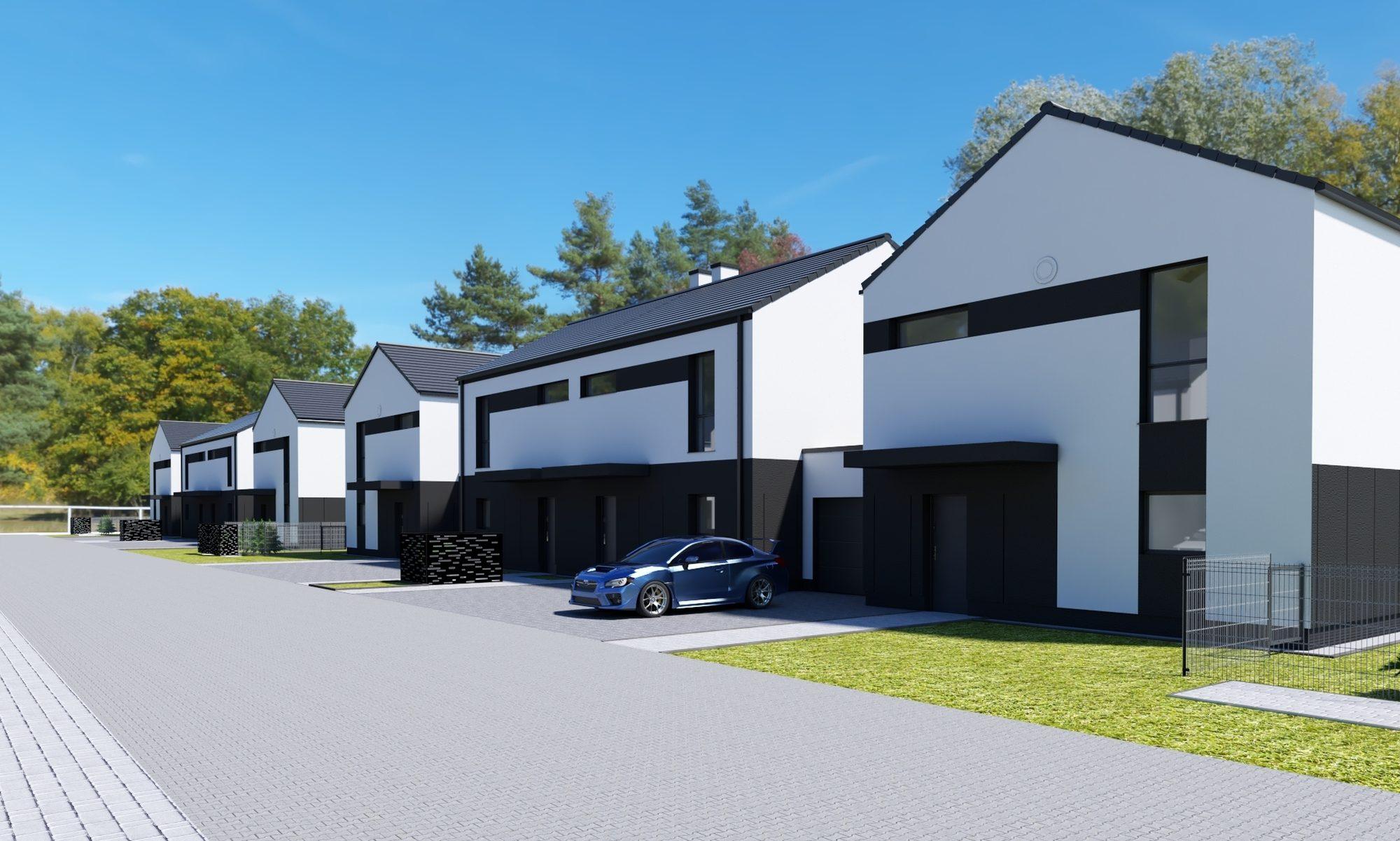 Nowoczesne ekologiczne domy szeregowe w Gliwicach
